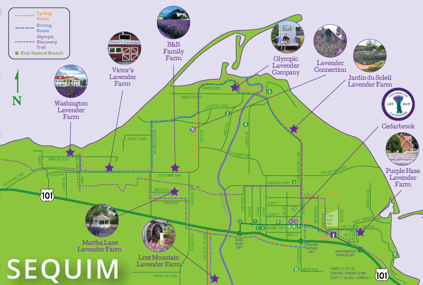 Sequim Lavender Driving & Biking Guide